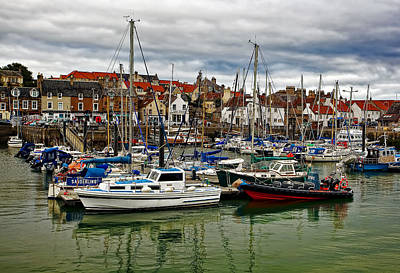 Anstruther Photograph - Anstruther Harbour by Marcia Colelli