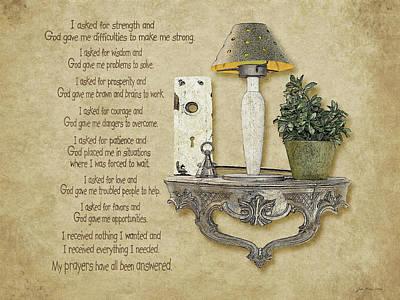 Inspirational Painting - Answered Prayers by Jo Moulton