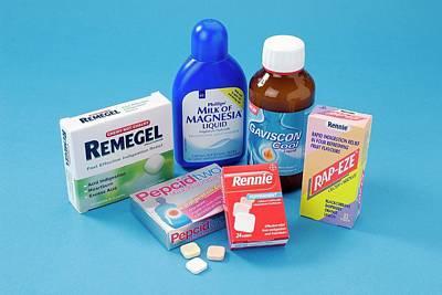 Antacid Medicines Print by Trevor Clifford Photography