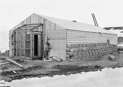 Antarctic Base Camp Construction Print by Scott Polar Research Institute