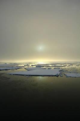 Antarctic Misty Sunset Print by FireFlux Studios
