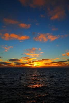 Antarctic Sunrise Print by FireFlux Studios