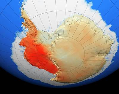 Noaa Photograph - Antarctic Warming Trend by Nasa/goddard Space Flight Center Scientific Visualization Studio