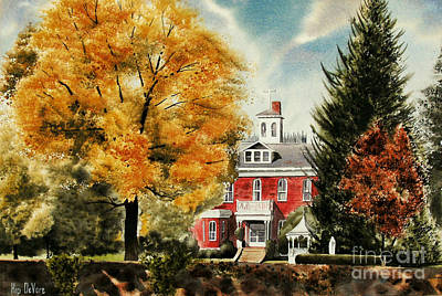 Autumn Scenes Mixed Media - Antebellum Autumn II by Kip DeVore