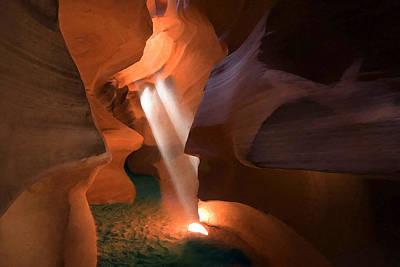 Urban Canyon Digital Art - Antelope Canyon 12 by Ingrid Smith-Johnsen