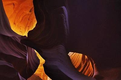 Urban Canyon Digital Art - Antelope Canyon 7 by Ingrid Smith-Johnsen