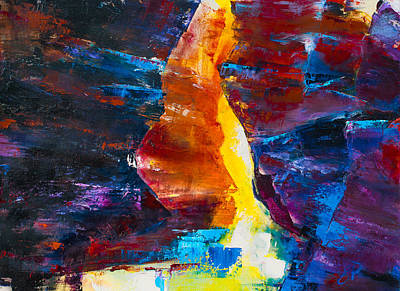 Navajo Painting - Antelope Canyon Light by Elise Palmigiani