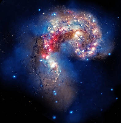 Antennae Galaxies Collide 2 Print by The  Vault - Jennifer Rondinelli Reilly