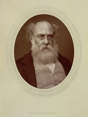 Portaits Photograph - Anthony Trollope by British Library
