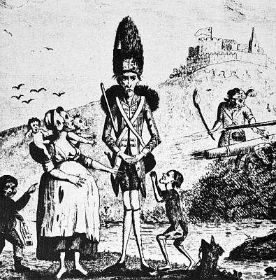 Anti-war Painting - Anti-war Cartoon, 1775 by Granger
