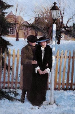 Hats Painting - Anticipation II by Susan Kuznitsky