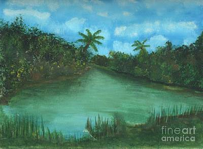 Landscapes Painting - Antigua by Myrtle Joy