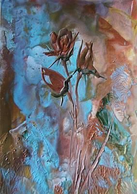 Brunch Painting - Antik Rose by Liz Naepflin