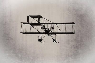 Antique 1910 Henri 3 Biplane  Airplane Takes Flight Print by Keith Webber Jr