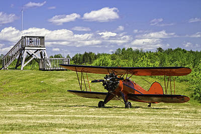 Antique 1931 Waco Ubf-2 Biplane    Print by Keith Webber Jr