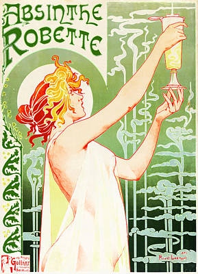 Absinthe Photograph - Antique Absinthe Robette Ad 3 by Jennifer Rondinelli Reilly - Fine Art Photography