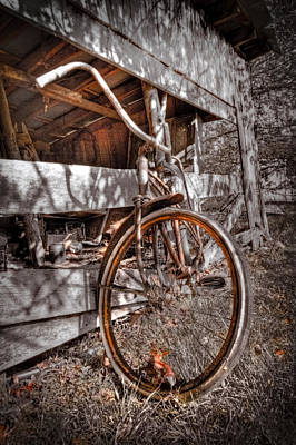 Classic Cycle Photograph - Antique Bicycle by Debra and Dave Vanderlaan