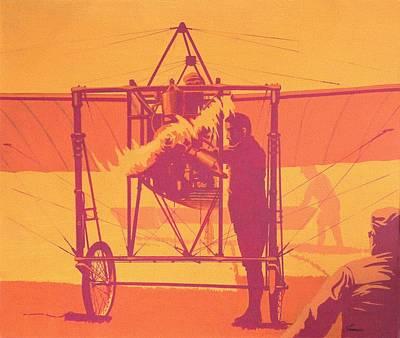 Antique Bleriot Airplane  Print by John Samsen
