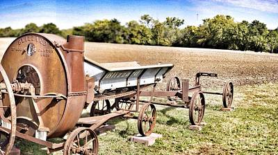 Antique Blizzard Silage Blower Print by Jeremy Linot