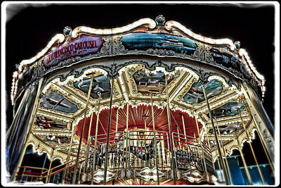 Antique Carousel Photograph - Antique Carousel On Pier 39  In San Francisco by The  Vault - Jennifer Rondinelli Reilly