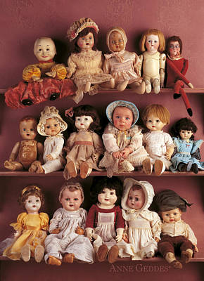 Girls Photograph - Antique Dolls by Anne Geddes