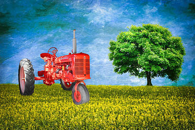 Sky Photograph - Antique Farmall Tractor by Fred Larson
