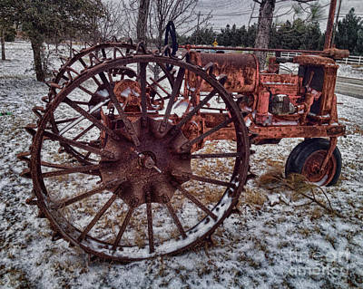 Antique Farmall Tractor Print by Jeremy Linot