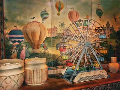 Merchandise Mixed Media - Antique Ferris Wheel Walt Disney World by Thomas Woolworth