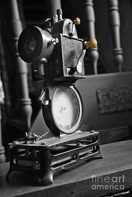 Antique Film Projector Print by Al Bourassa