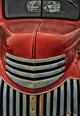 Classic Truck Photograph - Antique Fire Engine by Karol Livote