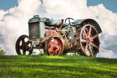 Antique Fordson Tractor - Americana Print by Gary Heller