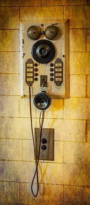 Keypad Photograph - Antique Intercom by Paul Freidlund