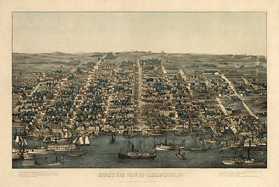 Antique Drawing - Antique Map Of Alexandria Virginia By Charles Magnus - 1863 by Blue Monocle