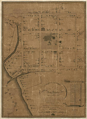 Williams Drawing - Antique Map Of New Haven By William Lyon - 1806 by Blue Monocle