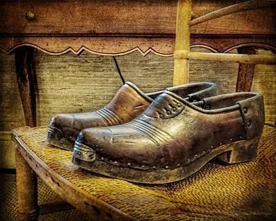 Mens Shoe Photograph - Antique Men's Shoes Still Life by Melissa Bittinger