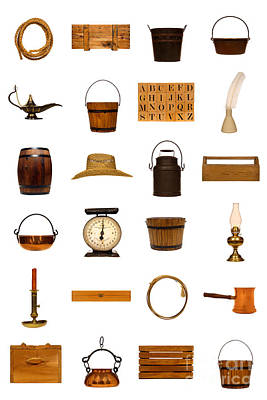 Old Objects Photograph - Antique Objects Collection by Olivier Le Queinec