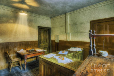 Antique Office Print by Ian Mitchell