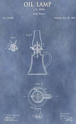 Antique Oil Lamp Patent Print by Dan Sproul