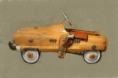 Childs Bedroom Art Digital Art - Antique Pedal Car L by Michelle Calkins