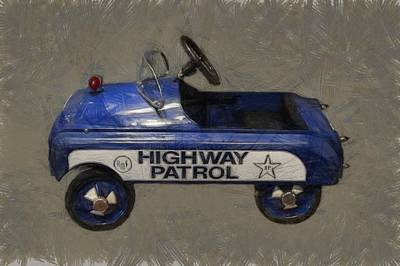 Police Cruiser Photograph - Antique Pedal Car V by Michelle Calkins