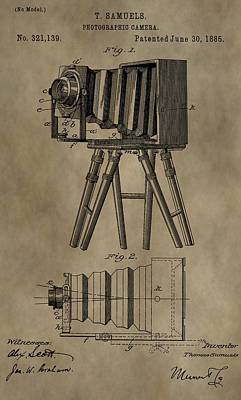 Labs Digital Art - Antique Photographic Camera Patent by Dan Sproul