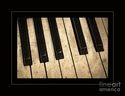 Ragtime Photograph - Antique Piano Keyboard Detail by John Stephens