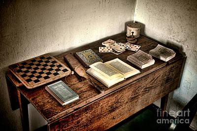 Playing Photograph - Antique Play Desk by Olivier Le Queinec