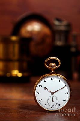 Curios Photograph - Antique Pocket Watch by Olivier Le Queinec