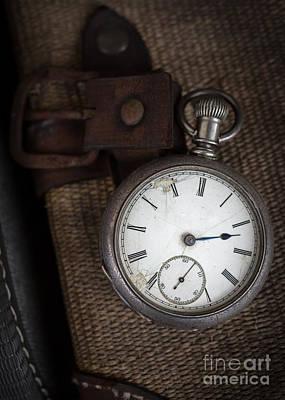 Antique Pocket Watch Traveler Print by Edward Fielding