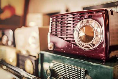 Antique Radios Print by Mountain Dreams