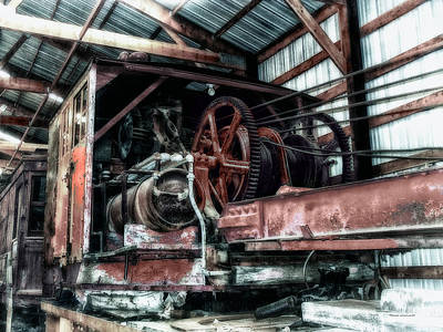 Antique Railroad Crane Print by Thomas Woolworth