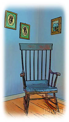 Antique Rocking Chair Original by Harold Bonacquist