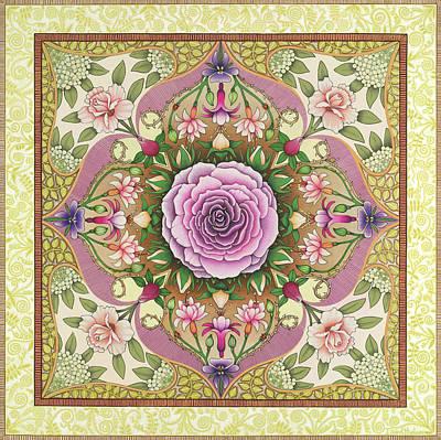 Antique Rose Print by Isobel  Brook Haslam