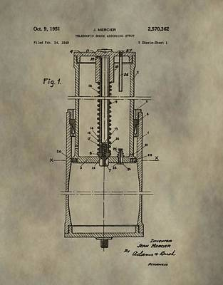 Antique Shock Absorber Patent Print by Dan Sproul